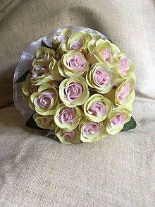 Kytice pre nevestu - svadobná kytica ružová - 8282941_