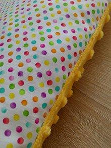 Úžitkový textil - Minky vankúšik *lentilka* - 8282231_