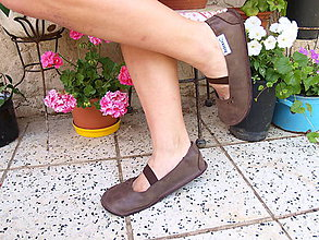Obuv - Pura Melior- ultra barefoot balerínky - hnedé - 8282706_