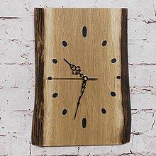 Hodiny - Drevené nástenné hodiny dub \