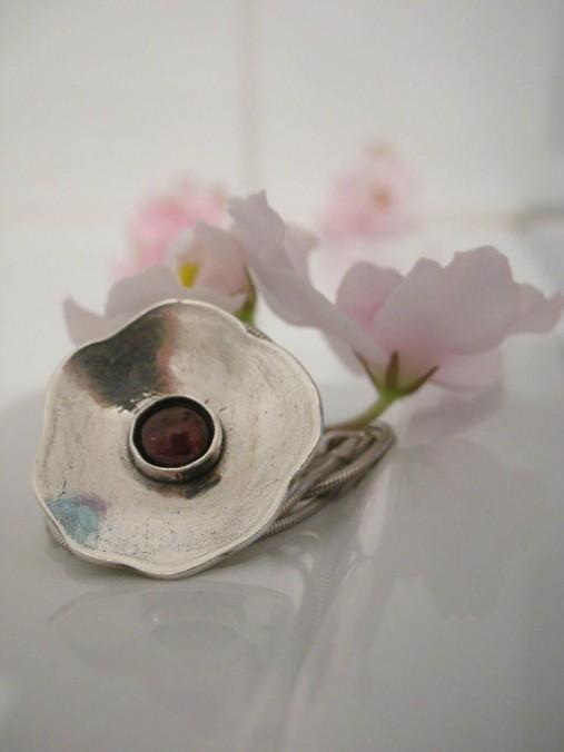 Náhrdelníky - Granátový kvet - 8283608_