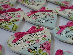 Darčeky pre svadobčanov - svadobné magnetky cyklámenové - 8283796_