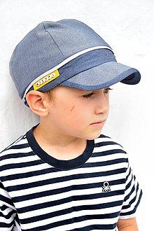Detské čiapky - Tenká riflová šiltovka s menom - 8281716_