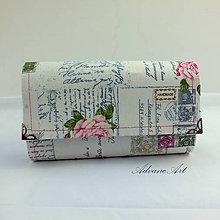 Peňaženky - Peňaženka list ruža - 8281692_