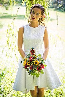 Šaty - Svadobné šaty krátke 1 - 8283809_