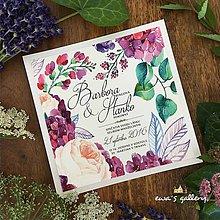 Papiernictvo - Svadobné oznámenie ~Flower Kocka~ - 8283697_