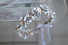Ozdoby do vlasov - mušličková koruna s perlami - 8283539_
