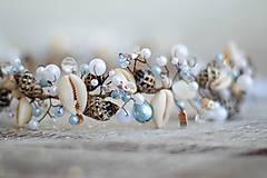 Ozdoby do vlasov - mušličková koruna s perlami - 8283540_