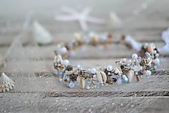 Ozdoby do vlasov - mušličková koruna s perlami - 8283541_