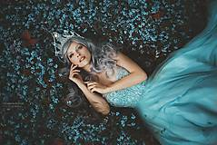 Ozdoby do vlasov - fantasy koruna s perlami a kameny - 8283662_