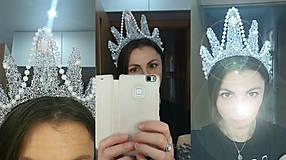 Ozdoby do vlasov - fantasy koruna s perlami a kameny - 8283690_