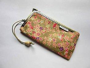 Na mobil - Puzdro na mobil rámčekové pieskové s motýlikmi - 8285305_