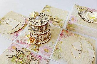 Krabičky - exploding box - darčeková krabička svadobná - 8284134_