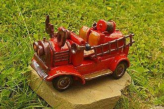 Dekorácie - hasičské auto - 8284684_