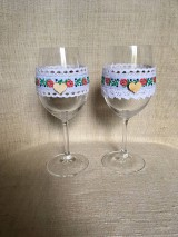 svadobné poháre folklórne