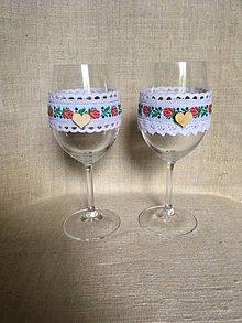 Kytice pre nevestu - svadobné poháre folklórne - 8285723_