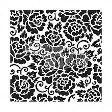 Pomôcky/Nástroje - Šablóna na maľovanie TCW Rose garden - 8284393_