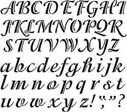 Pomôcky/Nástroje - Šablóna Písmo Malé a veľké 6 cm - 8284917_