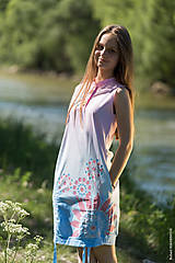 Šaty - Dámske šaty mini, šité, batikované, maľované, etno HARITI - 8284742_