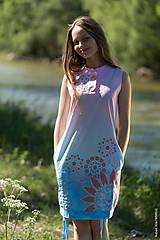 Šaty - Dámske šaty mini, šité, batikované, maľované, etno HARITI - 8284754_