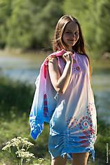 Šaty - Dámske šaty mini, šité, batikované, maľované, etno HARITI - 8284775_