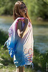 Šaty - Dámske šaty mini, šité, batikované, maľované, etno HARITI - 8284780_