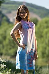 Šaty - Dámske šaty mini, šité, batikované, maľované, etno HARITI - 8284782_