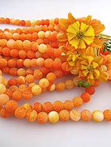 achát oranž matný korálky 10mm