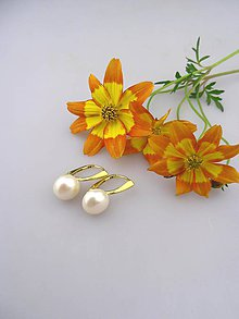 Náušnice - pravé perly náušnice striebro pozlátené - 8284400_