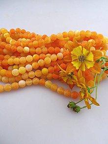 Minerály - achát matný korálky 8mm, achát oranž - 8286358_
