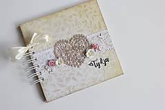 Papiernictvo - Kniha hostí - srdce II - 8284414_
