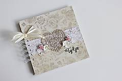 Papiernictvo - Kniha hostí - srdce - 8284423_