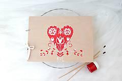 Papiernictvo - Kniha hostí folklórna láska pre Adka0 - 8284747_