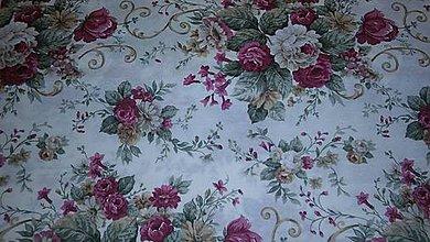 Textil - Ruže ružovo-hnedo-zelené š.140cm - 8284298_