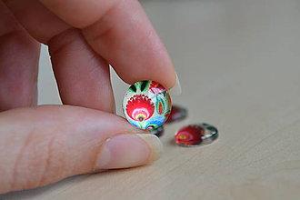 Komponenty - Kabošon sklenený folk biely 12mm, 0.35€/ks - 8284501_