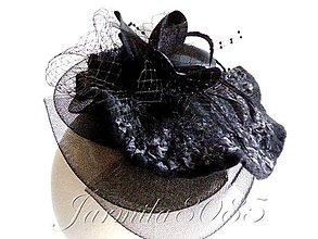 Ozdoby do vlasov - Smútočný fascinátor - klobúčik - 8285761_