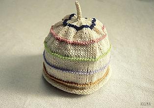 Detské čiapky - pletená čiapočka pre najmenších - 8284313_