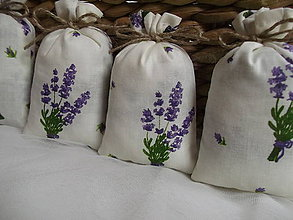 Darčeky pre svadobčanov - Levanduľové vrecúšká č.1 - 8284505_