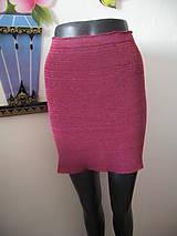 Sukne - Bavlneno-akrylová pletená sukňa - 8287192_