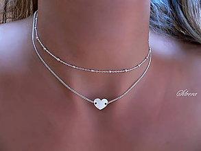 Náhrdelníky - Strieborný 925 náhrdelník MARBLES CHOCKER - 8286673_