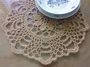 Úžitkový textil - jutové prestieranie II. - 8286817_