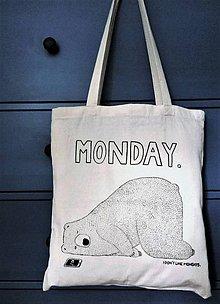 Nákupné tašky - Neznášam pondelky! - 8287645_