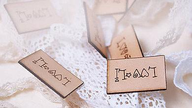 Drobnosti - Kožené a drevené štítky na zákazku - 8287707_
