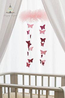 Detské doplnky - Baldachyn, nebesa, závesný stan (bílý) - 8287672_