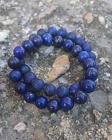 Šperky - Náramok z minerálu lapis lazuli - pre pánov (matný/lesklý) - 8287837_