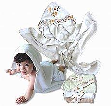 Detské doplnky - Bambusové Kapucíno – Detská osuška s kapucňou - 8287191_