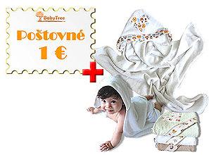 Detské doplnky - Bambusové Kapucíno – Detská osuška s kapucňou + Poštovné - doručenie za 1 € - 8287264_