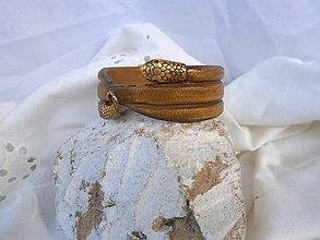 Náramky - drevený náramok - had... - 8288471_