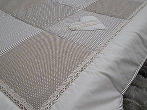 Úžitkový textil - prehoz vintage  180 x 220 cm - 8290941_