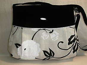 Kabelky - Crossbody kabelka - kvety na režnej - 8290056_